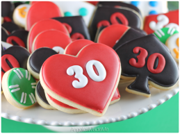 Casino Themed Birthday Cookies