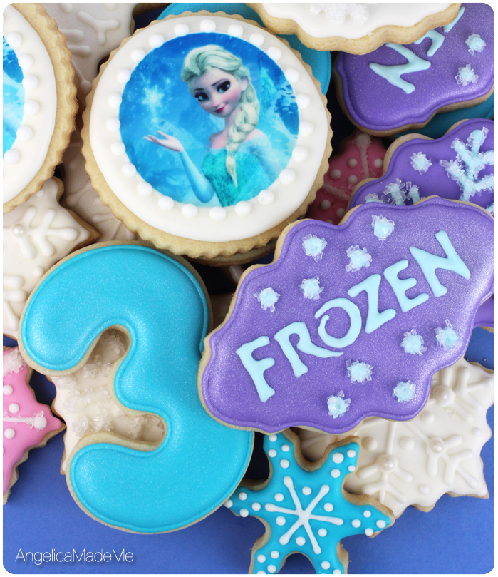 Frozen Themed Birthday Cookies