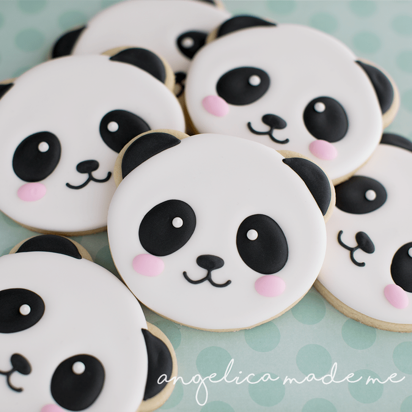 Cute Panda Face Cookies