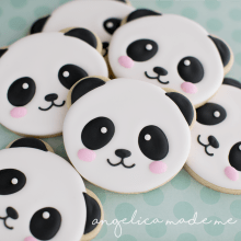Cute Panda Face Cookies