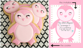 Pink Penguin Cookies