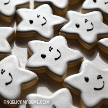 Cute Silver Star Cookies