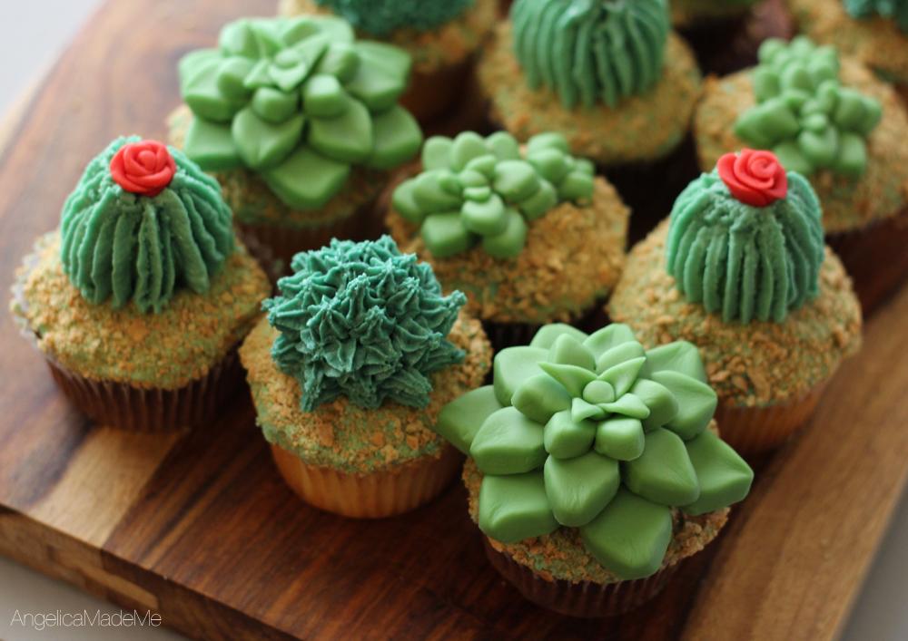 Succulent & Cactus Cupcakes