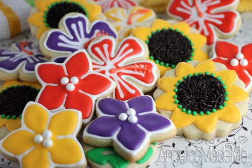 Garden Party Flower Cookies