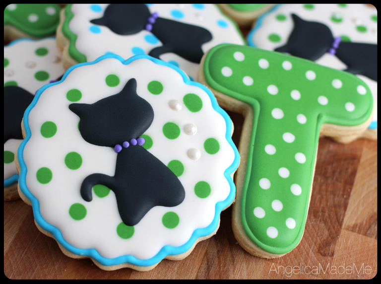 Cat Silhouette Birthday Cookies