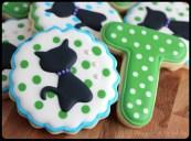 Cat Silhouette Birthday Cookies