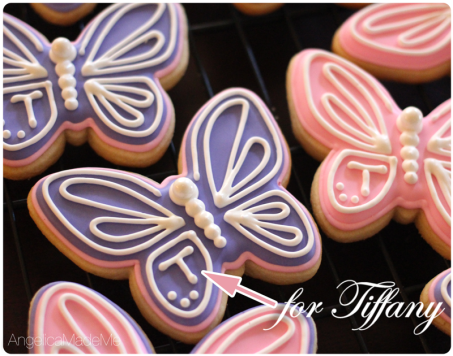 Tiffany Butterfly Birthday Cookies