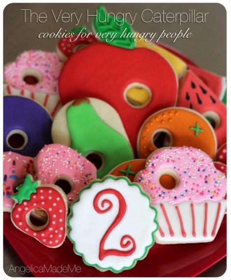The Very Hungry Caterpillar Birthday Cookies