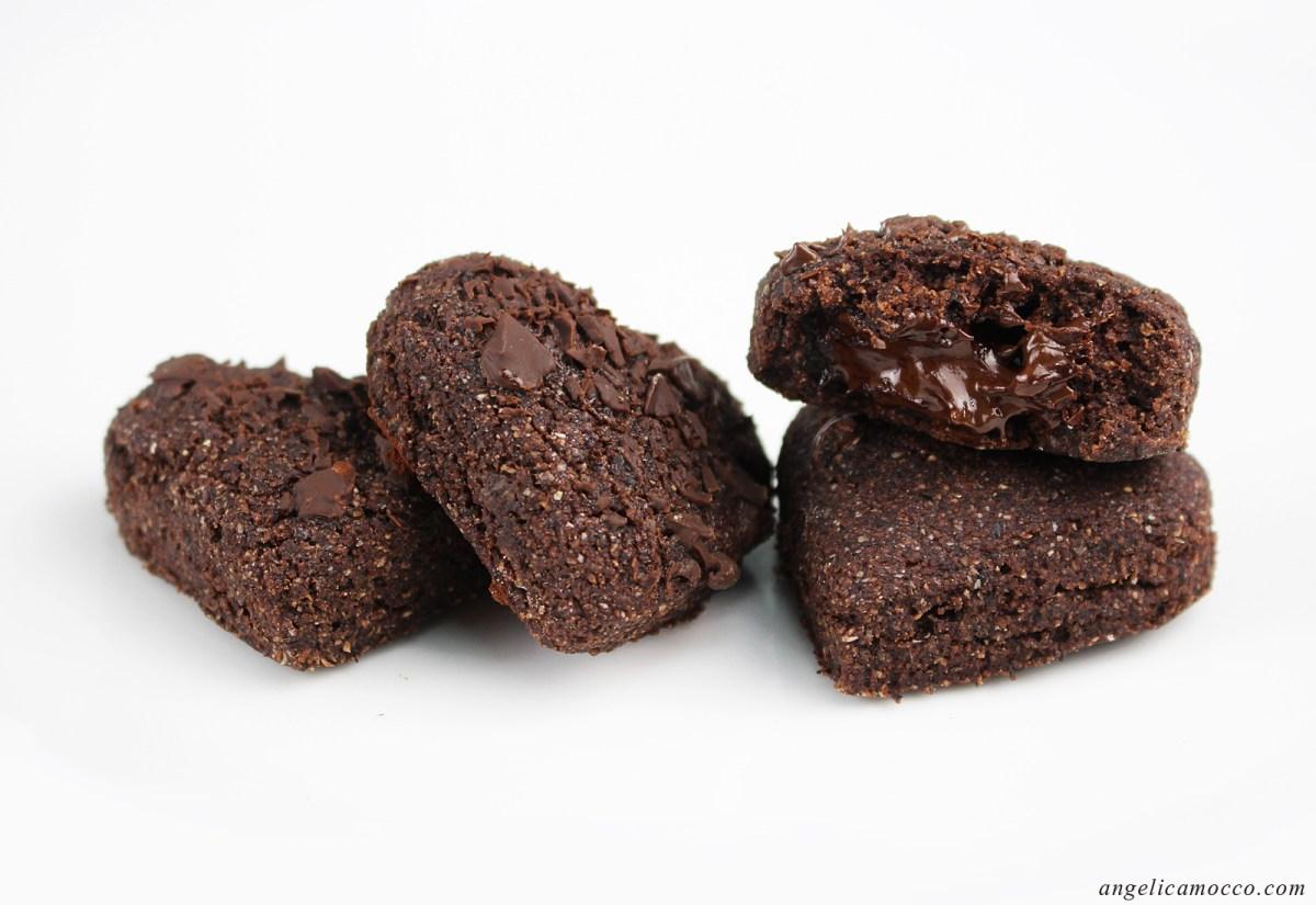 Biscotti al cioccolato dal cuore morbido