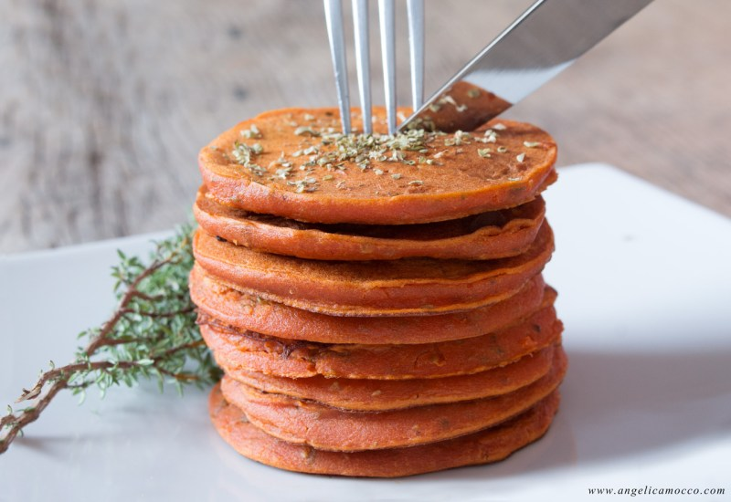 Pancake di ceci alla pizzaiola senza glutine