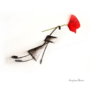 Poppy Print by Angelique Desiree