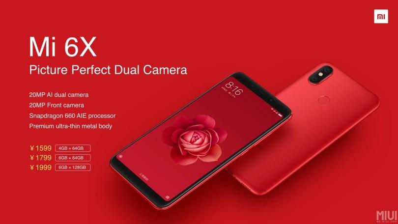 Xiaomi Mi 6x Price Features Specifications Xiaomi Mi A2