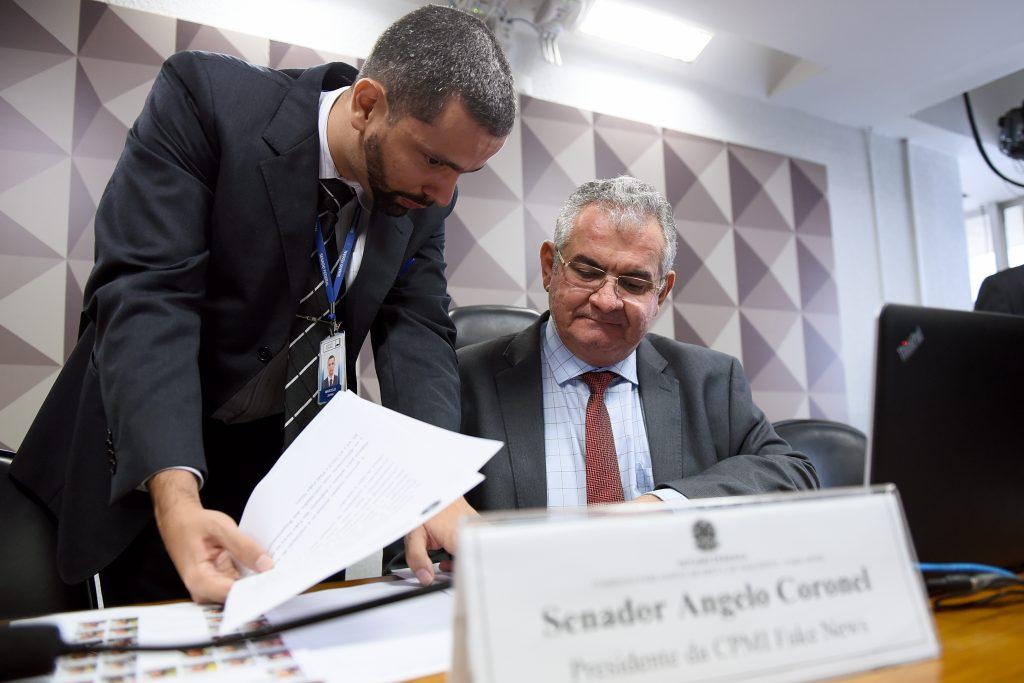 Angelo Coronel, presidente da CPMI das Fake News
