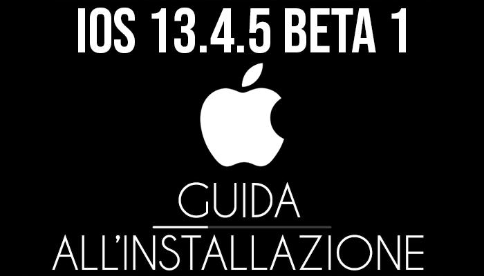 iOS 13.4.5 Beta 1