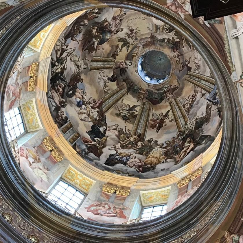 """Kuppelfresko """"das Himmlische Jerusalem"""" von Rottmayr"""