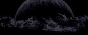 Birth of Moon Dark Background