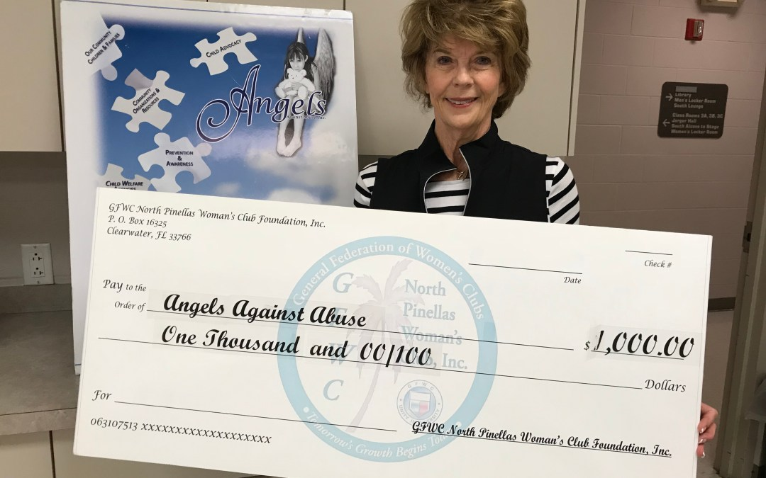 GFWC North Pinellas Woman's Club Gives Grant to the Angels