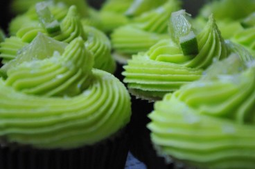 margarita cupcakes, lime-tequila butter icing