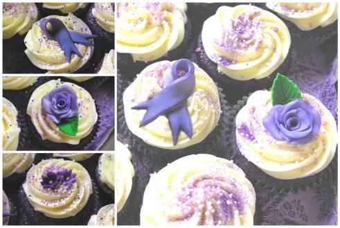 purple velvet cake, cream cheese icing