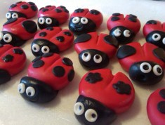 handmade sugarpaste ladybugs