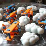 Cake artist, sugar artist, Vorna Valley, Midrand. hand made sugar paste airplanes and clouds