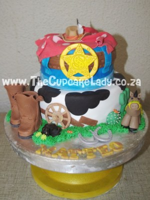 Magnificent A Western Themed Birthday Cake Funny Birthday Cards Online Alyptdamsfinfo