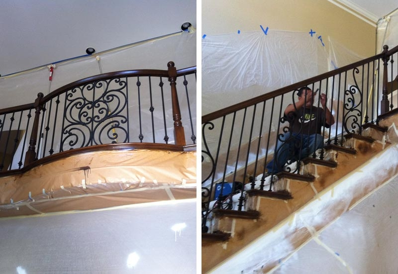 Ornamental Wrought Iron Staircase Railing Orange County Ca | Wrought Iron Stair Railing Cost | Banister | Traditional | Home | Commercial Rod Iron | Stair Heavy