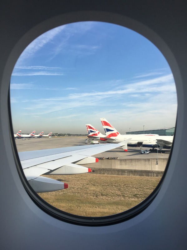 British Airways Window View.