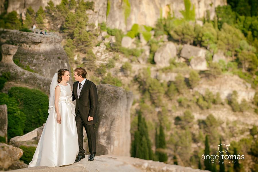 Reportaje fotografía de boda realizado en Cuenca por Ángel Tomás Fotógrafo de bodas