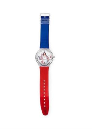 AMEN Unisex Wrist Watch Model GESÙ Rosso Blu MPN WGRBL