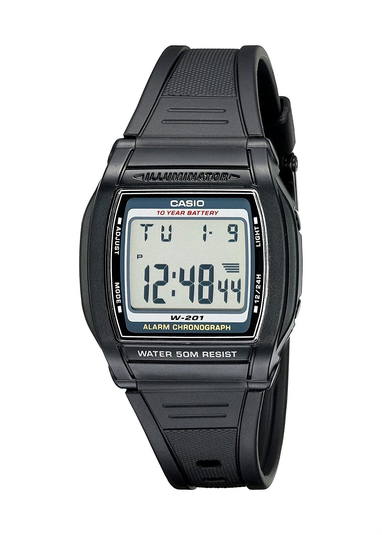CASIO Ladies Wrist Watch W-201-1AV