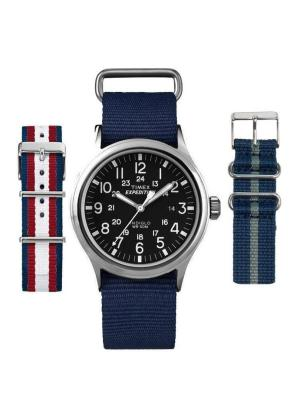 TIMEX Gents Wrist Watch Model EXPEDITION Special Pack + 2 Extra Straps T49962LG2