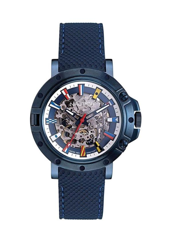 NAUTICA Gents Wrist Watch Model PORTHOLE - AUTOMATIC SKELETON NAPPRHS12