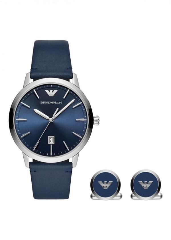 EMPORIO ARMANI Gents Wrist Watch Model RUGGERO Special Pack + Cufflinks AR80032