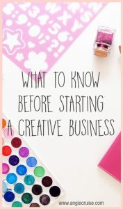In today's world of e-commerce, anyone can turn their hobby into a profit. Read on to find out what I wish I knew when starting a creative business.