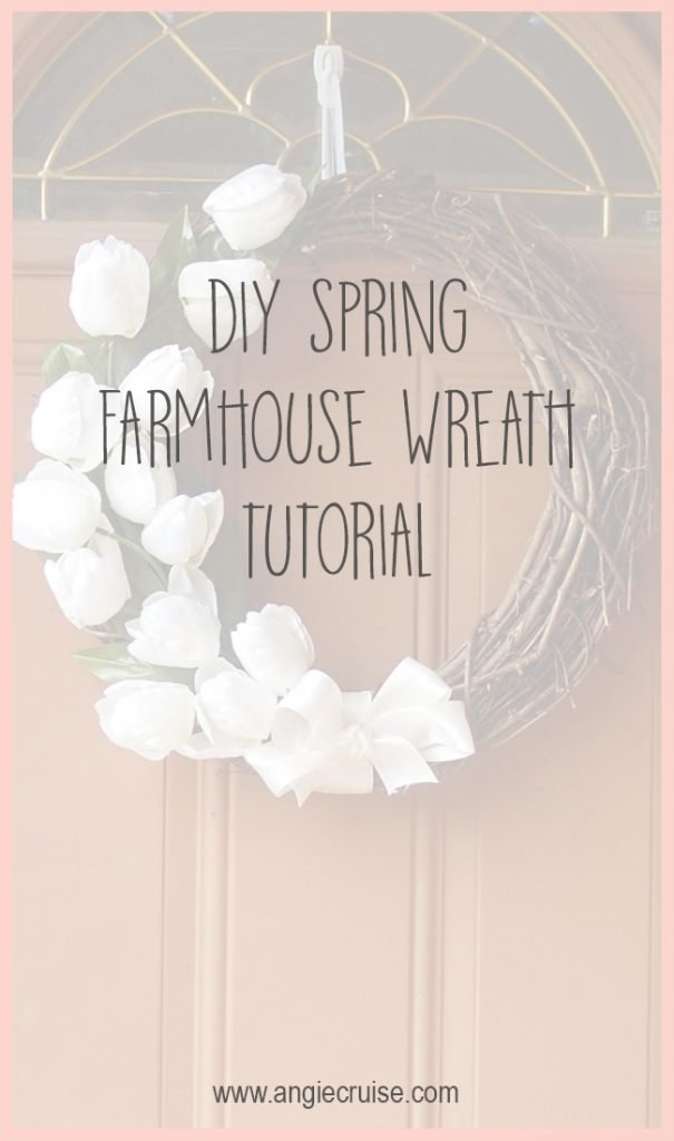 DIY Spring Farmhouse Wreath Tutorial