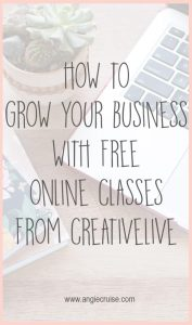 Are you looking for ways to grow your business? By taking classes from CreativeLive, you can learn new skills without spending a dime!