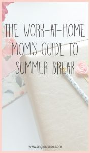 So, how is a work at home mom supposed to balance running a business with her kids home from school? Read on to see my best tips for surviving summer break!