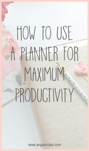 Are you looking into buying your first planner? Learn how to use a planner for maximum productivity! I'm sharing what works and what doesn't.