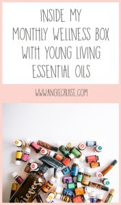 I know a lot of people get curious about what I order it every month, though, so I'm sharing my monthly wellness box with Young Living Essential Oils!