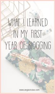 This blog is my passion project. My blood, sweat, and tears. It contains so much of me. My first year of blogging has taught me a lot of lessons that I want to share with you today.