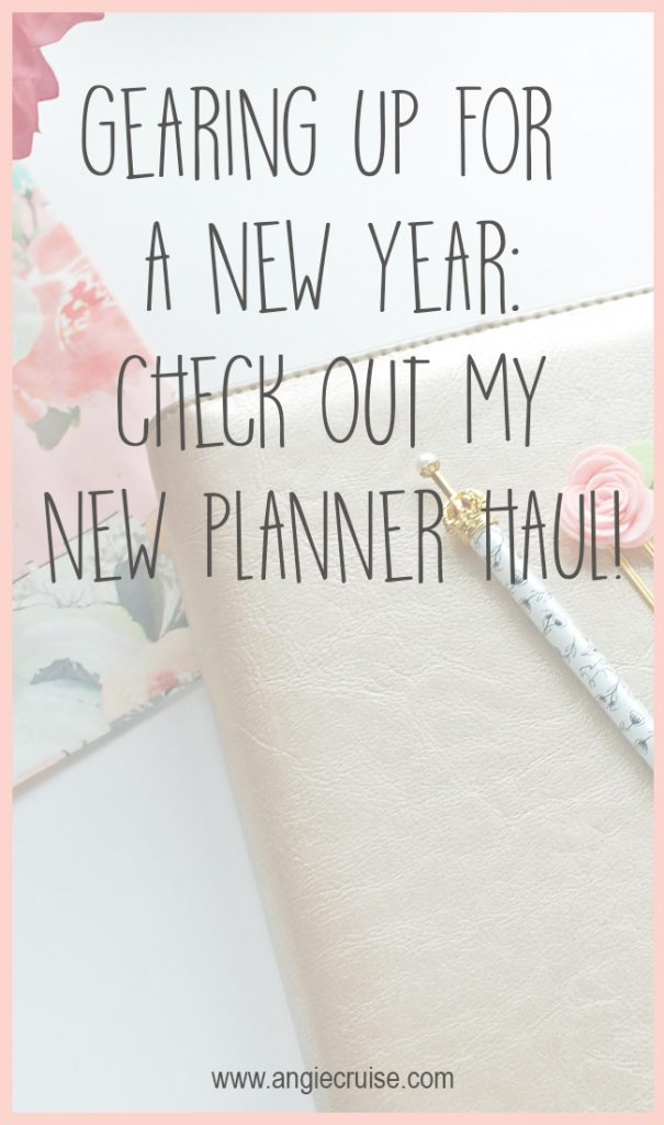 New Planner Haul! Gearing up for a New Year