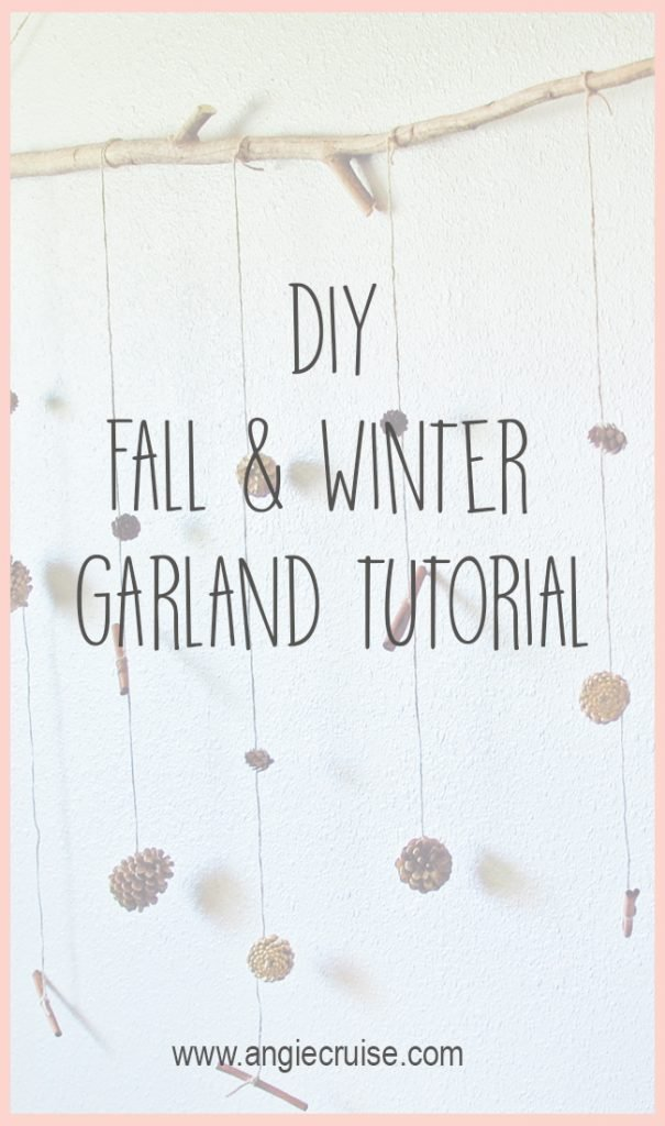 Recently, I stumbled upon a picture of a fall garland using pinecones, and decided I needed that as part of my fall decorations.  I decided a little DIY was in order.