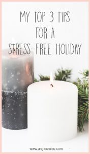 I know it seems impossible to slow down and enjoy such a busy season, but I compiled a list of tips that have really helped me have a stress-free Christmas.