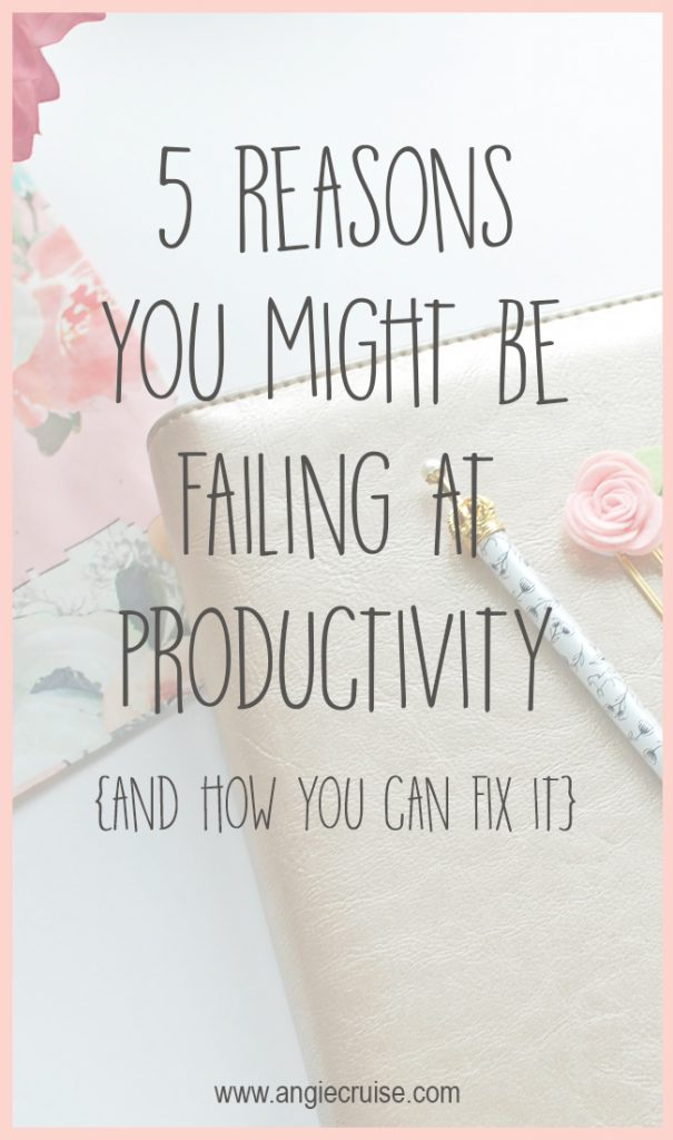 I often fall into these traps for failing at productivity, but being aware of them helps me overcome them and get more organized.