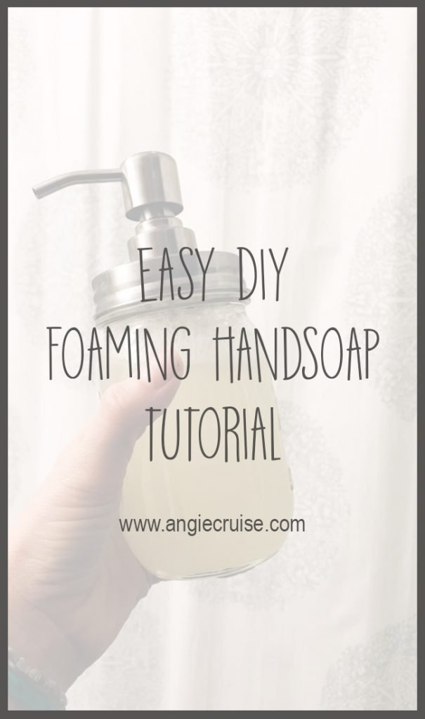 Don't let the idea of a DIY scare you away from this recipe. This foaming handsoap seriously took less than 5 minutes to make, and lasts forages.