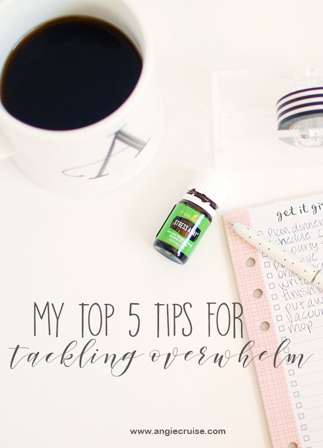 Ever feel overwhelmed by everything on your plate? Today, I want to share my top 5 tips to fight overwhelm and getting on with your day. #fightoverwhelm #productivity