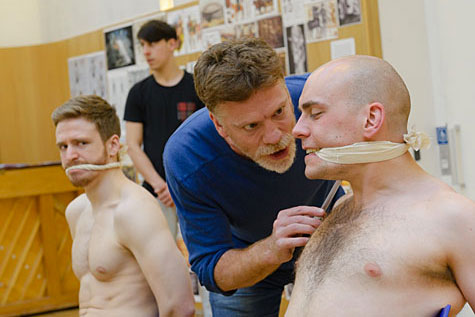 "Rehearsal shot from ""Titus Andronicus"". Photo courtesy the Globe Theatre"