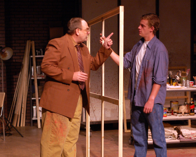 Jim Birdsall and Sam Cordes. Photo by Cynthia Levin and courtesy of Unicorn Theatre