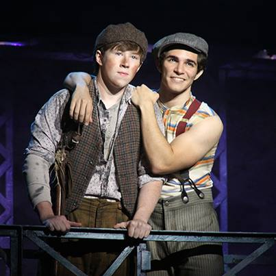 I admit: I kind of ship these two now thanks to the musical. Photo courtesy of Newsies Facebook page